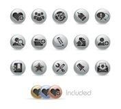 Serie del botón del metal de // del Internet y del blog stock de ilustración