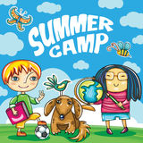 Serie del campeggio estivo dei bambini royalty illustrazione gratis