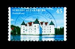 Serie del castello (costruito 1582-1587), dei castelli e dei palazzi di Glucksburg, Fotografie Stock