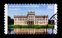 Serie del castello, dei castelli e dei palazzi di Ludwigslust, circa 2015 Immagini Stock