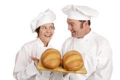 Serie del cocinero - panaderos imagenes de archivo