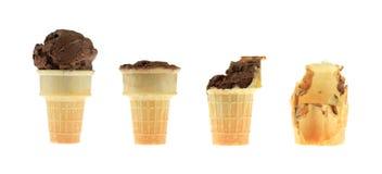 Serie del cono de helado Foto de archivo libre de regalías