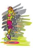 Serie del deporte: Jugador de básquet Ilustración del Vector