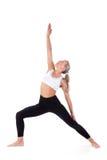 Serie del deporte: yoga Soldado Position (2) Imagen de archivo libre de regalías
