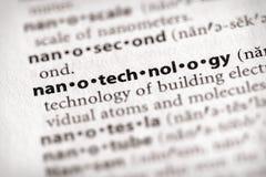 Serie del diccionario - ciencia: nanotecnología foto de archivo libre de regalías