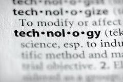Serie del diccionario - ciencia: tecnología Foto de archivo