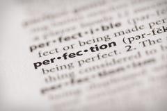 Serie del diccionario - cualidades: perfección imagen de archivo libre de regalías