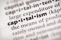 Serie del diccionario - economía: capitalismo imagen de archivo