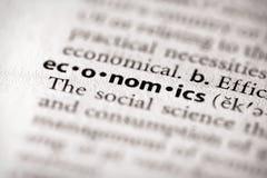 Serie del diccionario - economía: economía Imagen de archivo libre de regalías