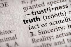 Serie del diccionario - filosofía: verdad Imágenes de archivo libres de regalías