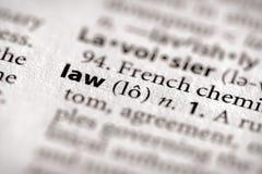 Serie del diccionario - ley Imagen de archivo libre de regalías