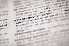 Serie del diccionario - ley: abogado Fotografía de archivo libre de regalías