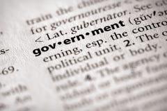 Serie del diccionario - política: gobierno Fotografía de archivo libre de regalías