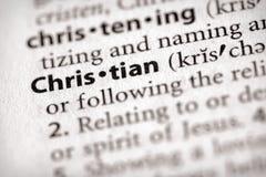 Serie del diccionario - religión: Cristiano Imagen de archivo libre de regalías