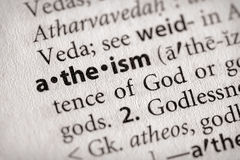 Serie del diccionario - religión: el ateismo imagen de archivo libre de regalías