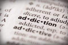 Serie del diccionario - salud: apego Fotografía de archivo libre de regalías