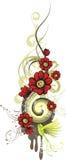 Serie del diseño floral Fotografía de archivo libre de regalías