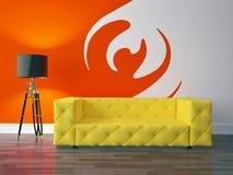 Serie del diseño interior: Sala de estar moderna Imagenes de archivo