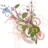 Serie del diseño floral Fotografía de archivo