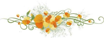 Serie del diseño floral Imagen de archivo libre de regalías