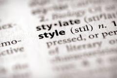 Serie del dizionario - attributi: stile Fotografia Stock