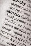 Serie del dizionario - politica: comitato Fotografia Stock Libera da Diritti