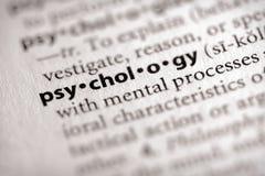 Serie del dizionario - psicologia: psicologia Fotografie Stock