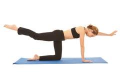 Serie del ejercicio de Pilates Fotos de archivo
