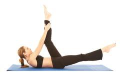 Serie del ejercicio de Pilates Imagen de archivo