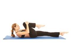 Serie del ejercicio de Pilates Fotografía de archivo