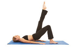 Serie del ejercicio de Pilates Fotografía de archivo libre de regalías