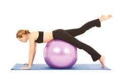 Serie del ejercicio de Pilates Imagenes de archivo