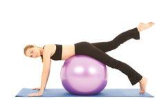 Serie del ejercicio de Pilates Foto de archivo libre de regalías
