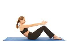 Serie del ejercicio de Pilates Imágenes de archivo libres de regalías