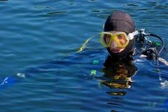 Serie del equipo de submarinismo Fotografía de archivo libre de regalías