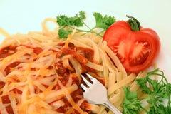 Serie del espagueti Fotografía de archivo libre de regalías