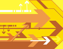 Serie del fondo de la flecha stock de ilustración