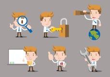 Serie del hombre de negocios - sistema del trabajo Imagen de archivo