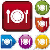 Serie del icono: alimento (vector) stock de ilustración