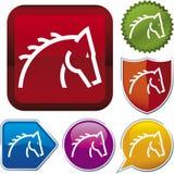 Serie del icono: caballo (vector) stock de ilustración