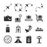 Serie 1 del icono de la aviación stock de ilustración