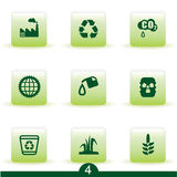 Serie del icono de la ecología Imagen de archivo