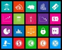 Serie del icono de las finanzas en estilo del metro Imagen de archivo libre de regalías
