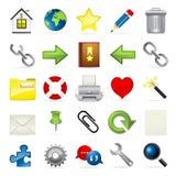 Serie del icono de Meloti - Internet y Blogging Foto de archivo libre de regalías