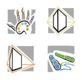 Serie del icono del arte Imagen de archivo libre de regalías