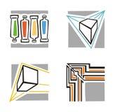 Serie del icono del arte Fotografía de archivo libre de regalías