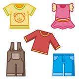 Serie del icono del bebé y de los cabritos Fotos de archivo