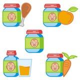 Serie del icono del bebé y de los cabritos stock de ilustración