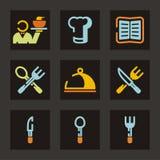 Serie del icono del restaurante Fotos de archivo