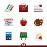 Serie del icono - educación Imagen de archivo libre de regalías
